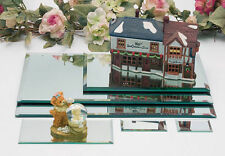 Round and Square Display Mirrors, Different Sizes, with Feet (Pads)