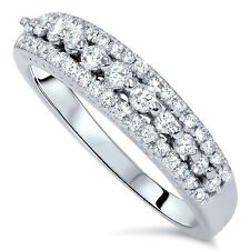 1/3CT Diamond Wedding Ring 14 KT White Gold