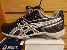 ASICS GEL PROVOST FOOTBALL OR LACROSSE CLEAT BLACK SILVER NEW IN BOX