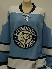 NEW Mens REEBOK Pittsburgh PENGUINS Blue Stitched NHL Premier Hockey Jersey 7185