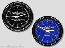 PERSONALIZED Submarine Force Wall Clock Chelsea USS US Sub SSBN SSN SS New