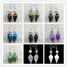 Pair of Beautiful Mixed Gemstone Pendulum With Tibet silver Earrings