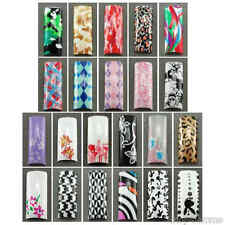 Designer Air Brushed French Nail Tips in 10 sizes - Selection B