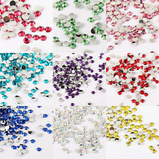 Wholesale Crystal Flat Back Acrylic Rhinestones Beads Nail Art DIY Findings 2mm