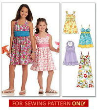RETIRED SEWING PATTERN! MAKE DRESS~SUNDRESS!  CHILD 3~GIRL 14! SUMMER CLOTHES!
