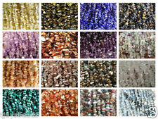 """Gemstone Chip Beads for Jewellery Making on 35"""" String 5-8mm"""