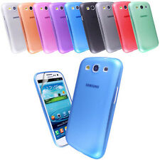ULTRA THIN PLASTIC PC CASE COVER FOR SAMSUNG GALAXY S3 III i9300 + SCREEN FILM