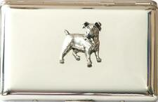 Jack Russell Terrier Dog Design Cigarette Case Tin FREE ENGRAVING Hunting Gift