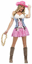 Adult Sexy Cowgirl Rodeo Sweetie Wild West Western Costume Halloween
