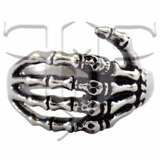Stainless Steel Skeleton Hand Ring | Skull Ring Band Size 8,  9, 10, 11, 12, 13