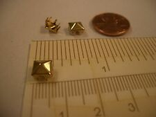 "8MM 1/4"" Pyramid Spike Spot Nailheads Studs 8 Prong Rock Punk Raveme Goth Plur"