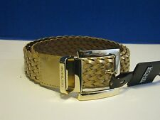 NWT Michael KORS Gold Braided Genuine Leather Womens Belt All Sizes