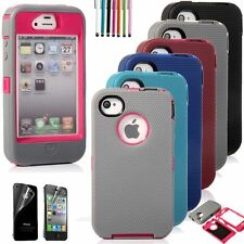 For iPhone 4 4G 4S Choose Color Hybrid Shockproof Dirt Proof Durable Case Cover