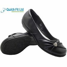 GIRLS SCHOOL SHOES KIDS BLACK FORMAL CASUAL SCHOOL SHOES SIZES 13-5UK NEW