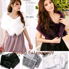 2013 New Elegant Trendy Faux Fur shrug Wedding Party Scraf Wrap Shrug Warm Shawl