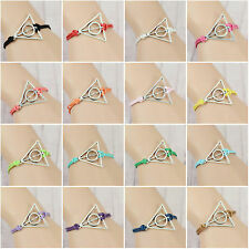 1pcs Multi-color Deathly Hallows Harry Potter Charm Friendship handmade Bracelet