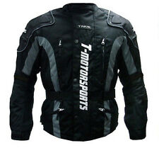 Mens Motorcycle Armor Jacket Motorcycle Enduro Touring Dual Sport ATV MX Black