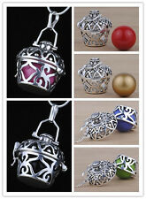 925 sterling Silver Bali Mexican Bola Relaxation Chime Harmony ball PENDANT H26