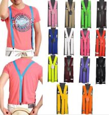 New Colors Mens Womens Clip-on Suspenders Elastic Adjustable Braces Punk Goth