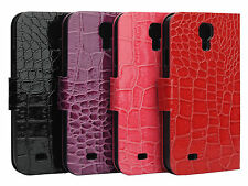 New Crocodile Skin PU Leather Stand Case Cover For Samsung Galaxy S4 S IV i9500