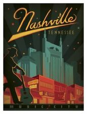 music city nashville tennessee travel LIGHT SWITCH PLATE home decor