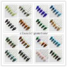 XJ-199 Beautiful mixed gemstone pendulum Pendant Bead 5pcs please Pick Stone!