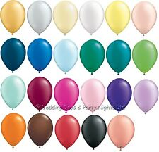 "10 Qualatex Plain 11"" Helium/Air Balloons Wedding Birthday Party Christening"