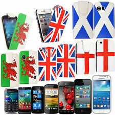 FLAG SERIES PRINTED LEATHER FLIP CASE COVER FOR VARIOUS PHONES+GUARD+STYLUS