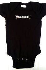 MEGADETH  BABY ONE PIECE CREEPER  LICENSED HEAVY METAL ROCK T-SHIRT NEW