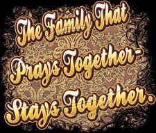 Religious Christian Family That Prays Together Stays Together God T-Shirt S-6x