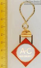 Sturdy key chain with a diamond-shaped gold-toned & orange Allis Chalmers shield