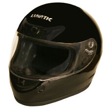 Lunatic Full Face Helmet Gloss Black DOT Approved Adult Motorcycle Street Helmet