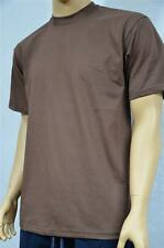3 NEW PROCLUB S-5XLT HEAVY WEIGHT T-SHIRTS BROWN PLAIN TEE PRO CLUB BLANK