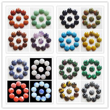 10pcs 20x6mm Beautiful Mixed gemstone Round CAB CABOCHON C-0126