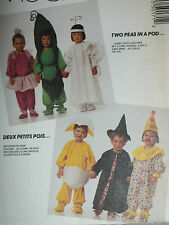VTG McCalls 5017 Toddlers COSTUMES Pattern 2Peas/Pod~Clown~Witch~Chick~Ballerina