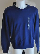 Tommy HOMME PULL NEUF 100% Coton BLEU COLV tailles M, XXL 2015