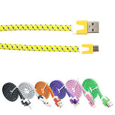 Braided Micro USB Sync Charger Cable for Samsung S2 S3 S4 HTC LG Google Nexus 4