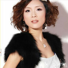 Glamorous Faux Fur Jacket Wrap Shrug Bolero Shawl Cape Bridal Wedding Prom Party