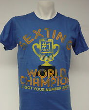 NEW Mens DAVID & GOLIATH Sexting World Champion OMFG I Got Your Number T-Shirt
