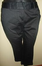 NWT Charter Club black sateen classic fit capris cropped pants 4P SP