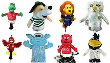 Official Football Team Golf Club Headcover Mascot Maskot Novelty Choose Yours