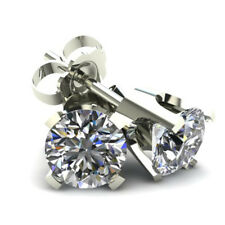 .50CT Round Brilliant Cut Natural Diamond Stud Earrings In 14K Gold