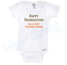FUNNY THANKSGIVING BABY SHIRT Gerber® Onesie® Baby Shower INFANT T-SHIRT CUTE