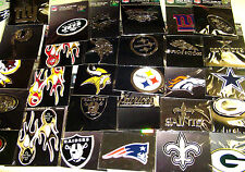 U Pick 1 NFL Team Promark emblem Auto Car truck Decal 3 Inch Logo Color Chrome