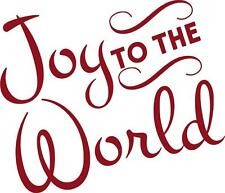 Joy To The World Christmas Home Decor Vinyl Wall Art Decal Sticker Words