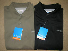 NWT MEN'S COLUMBIA PERFECT CAST OMNI SHADE UPF 30 PFG POLO SELECT SIZE $40