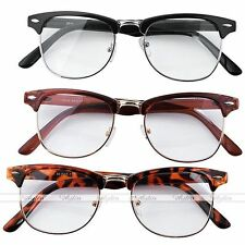 Mens Womens Unisex Vintage Clear Lens Trendy Rock Retro Eyewear Glasses Fashion
