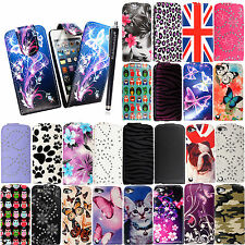 FOR APPLE IPOD TOUCH 5 5TH GEN PU LEATHER MAGNETIC FLIP CASE COVER + FREE STYLUS