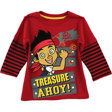 Disney Jake and the Never Land Pirates Toddler Boys Long Sleeve T-Shirt Tee