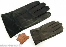 ADULTS MENS REAL SHEEPSKIN LEATHER DRIVING GLOVES WITH LINING BLACK/BROWN M-L-XL